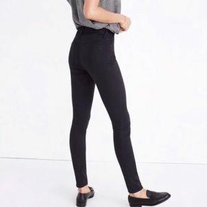 Madewell 9 inch high rise skinny in black